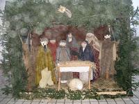 Bodrogszerdahelyen a görögkatolikus templom udvarán Betlehemet építettek.jpg