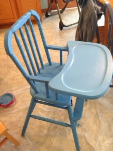 making mama's kitchen: naptime projects: diy chalk paint highchair