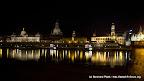 Dresdner Altstadt bei Nacht am Elbufer!