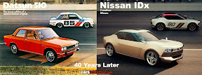 Datsun 510 and Nissan IDX 40 years later