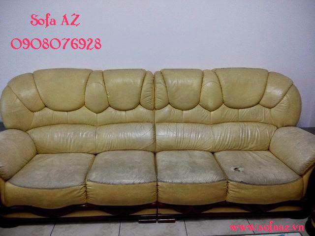 Bọc ghế sofa da bò - Sửa ghế sofa da bò Ý tại hcm