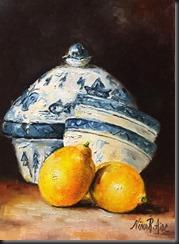 Delft Blue and Lemons 1