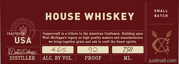 Coppercraft Distillery House Whiskey