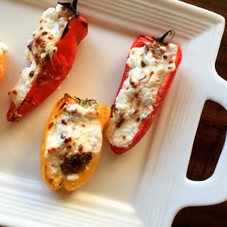 3 Cheese and Bacon Stuffed Mini Sweet Peppers.