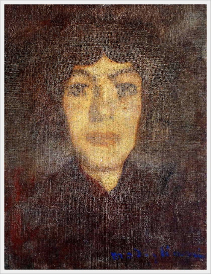 Amedeo Clemente Modigliani (Italian, 1884-1920) «Woman's head with beauty spot» 1906