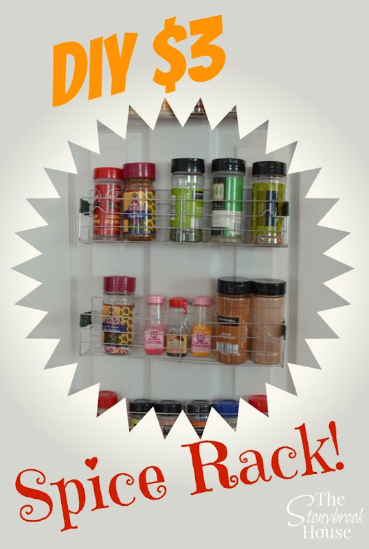 Easy DIY $3 Spice Rack