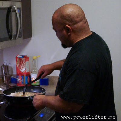 powerlifter cooking