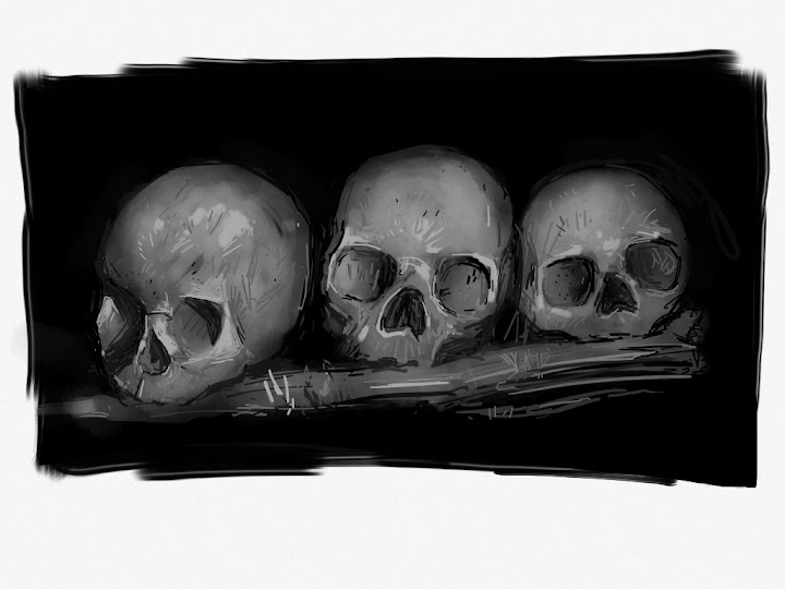 Skulls made with Sketches