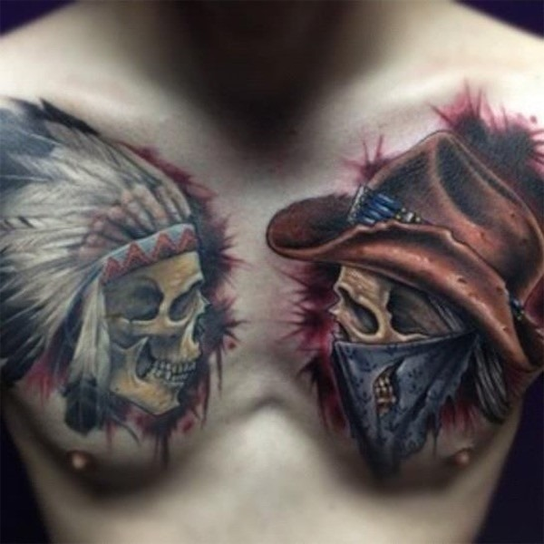 the_lone_ranger_peito_tatuagens