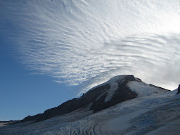 Mt Baker with weather front coming in strong and fast.