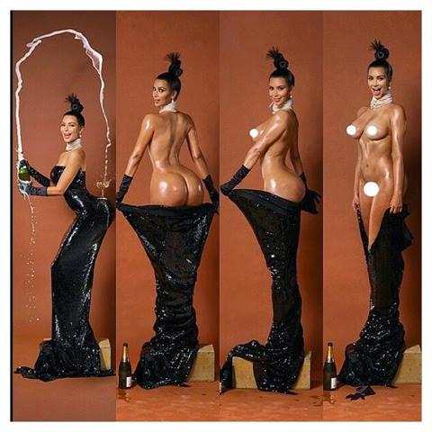 Kim Kardashian da qué hablar con destape