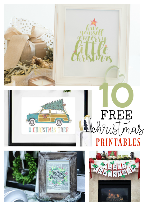 10 Free Christmas Printables at GingerSnapCrafts.com #printables #Christmas