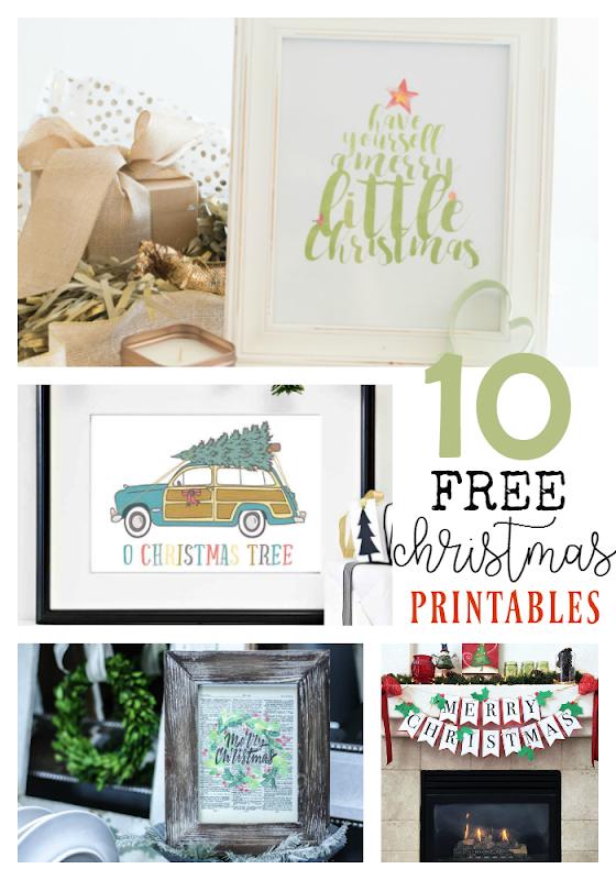 10 Free Christmas Printables at GingerSnapCrafts.com #printables #Christmas