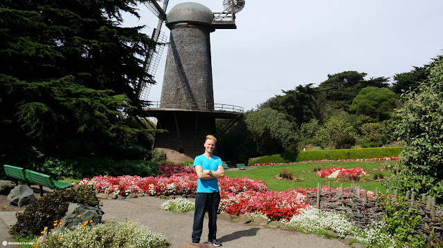 Dutch Windmill at Golden Gate Park in San Francisco in San Francisco, California, United States