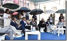 Le donne ombrello di Sulmona