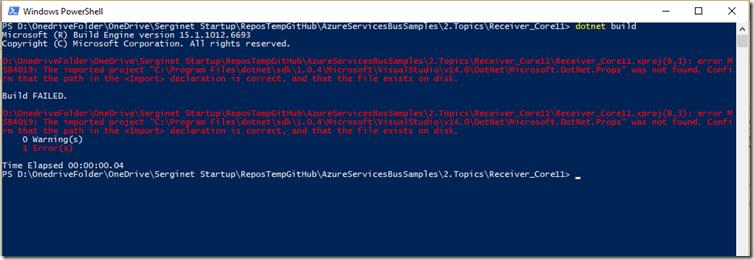 error dotnetbuild