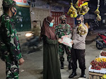 Polres Pijay Gelar Patroli Skala Besar Sambil Membagikan Sembako