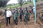Mayjen TNI Gamal Haryo Putro Bersama Bupati Pakpak Bharat Tinjau Lokasi TMMD Ke-11