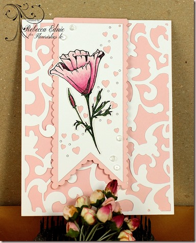 fl poppy bookmark card wm