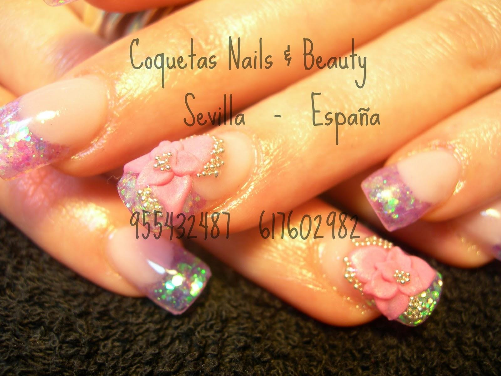 Coquetas Nails Pasion Por El Nail Art Flores En 3d Y Alto