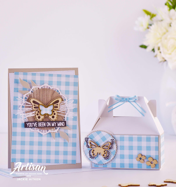 Butterfly Card, Butterfly Gala, Gable Gift Box, Gingham Gala Suite, OSAT Blog Hop, Sale-a-Bration 2019, Stampin' Up!, jaxxcraftycreations