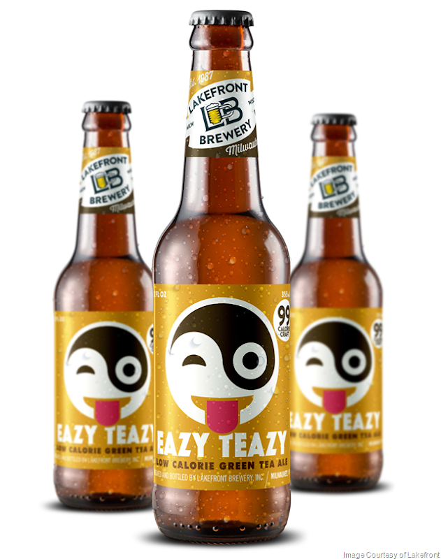 Lakefront Brewery Adds Eazy Teazy Green Tea Ale to its Lineup