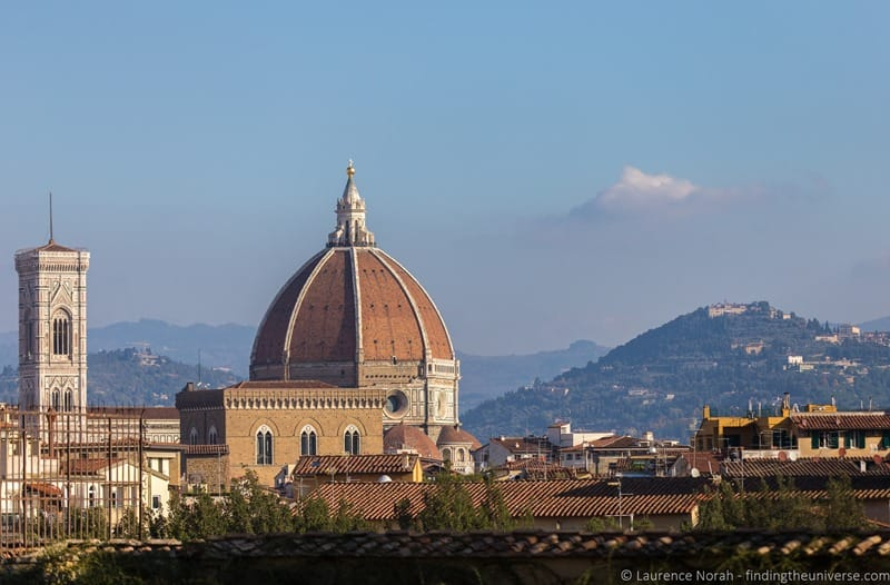 Context Tour Review Pitti Palace Florence - Duomo from Boboli Gardens