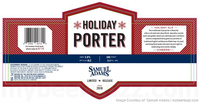 Samuel Adams - Holiday Porter 2018