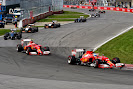 Alonso leads team mate Raikkonen