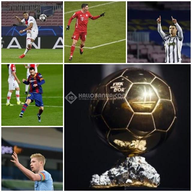 5 Calon Peraih Trofi Ballon dOr 2021 per Maret