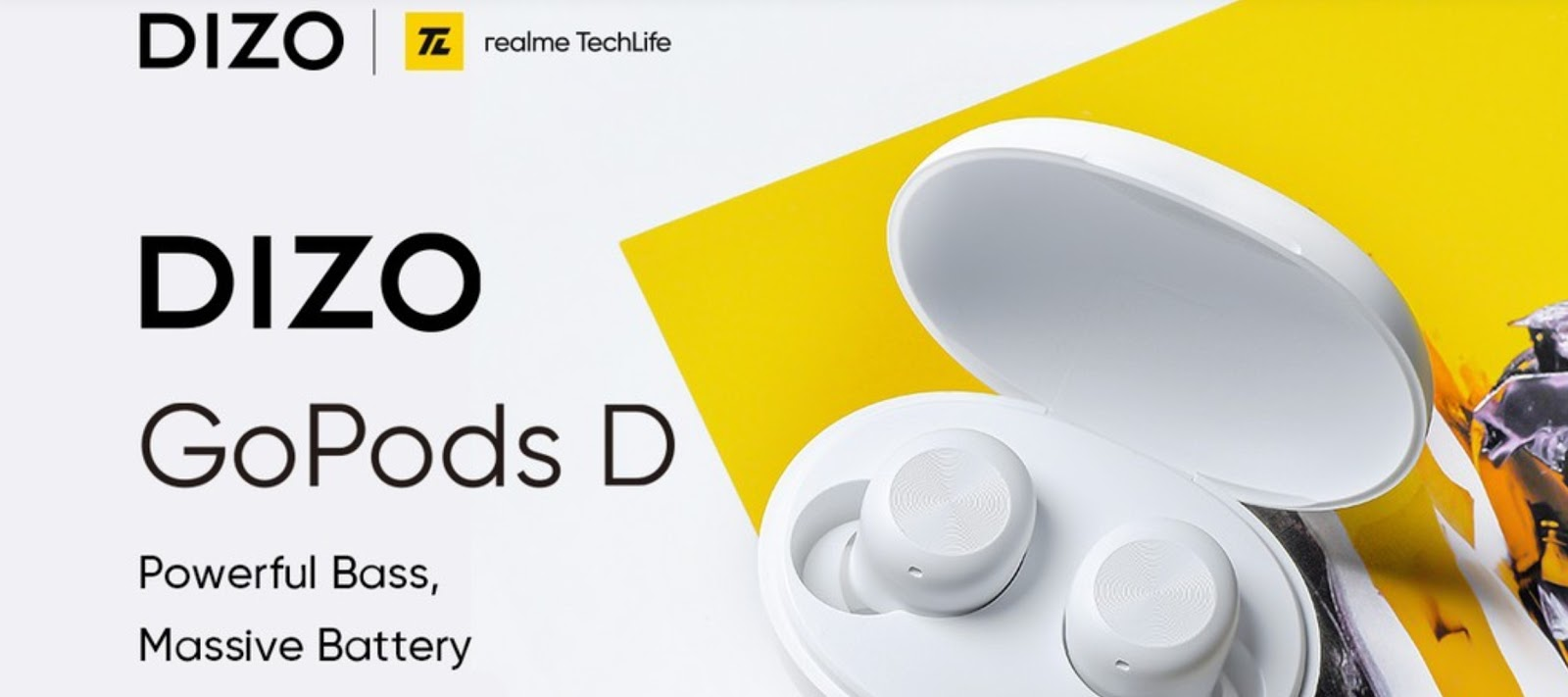 DIZO บริษัทในกลุ่ม realme TechLife ประกาศเปิดตัว Dizo GoPods D หูฟังไร้สาย TWS มาพร้อมเสียงเบสอันทรงพลังสมจริง และแบตเตอร์รี่อายุใช้งานยาวนานเอาใจคอเกมส์