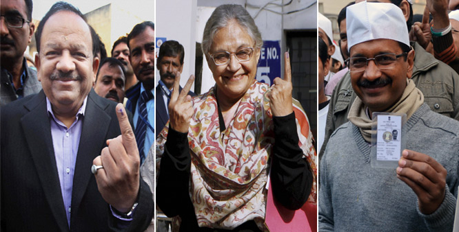 Harsh Vardhan, Sheila, Arvind Kejriwal