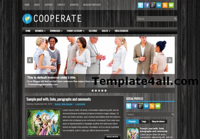 Corporate Wooden Business Blogger Template
