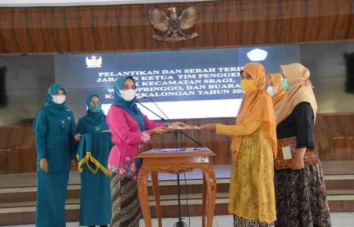 Ny.Widi Riswadi Telah Melantik Tiga Ketua TP PKK Tingkat Kecamatan..