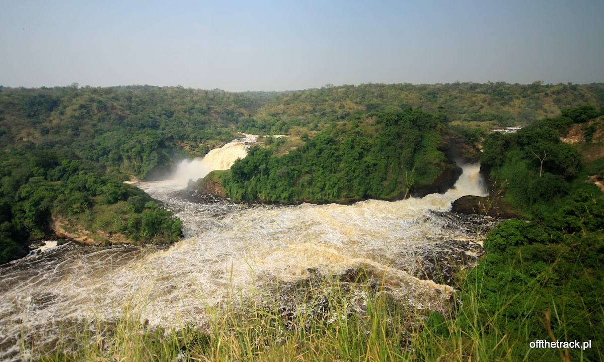 Dwa wodospady Murchisona, park narodowy Murchison Falls, Uganda