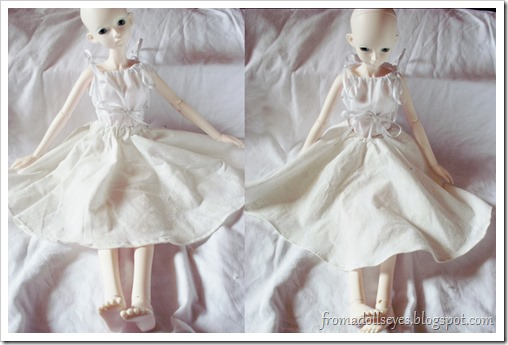 Two off-white bjd circle skirts