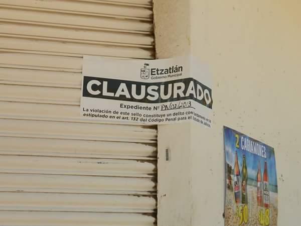 Blog De Información De Etzatlán: Blog De Información De Etzatlán: Clausuran Negocio De