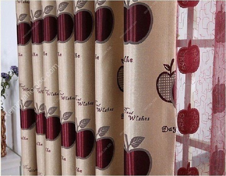 Rèm vải cao cấp hà nội quả táo đỏ eva 6
