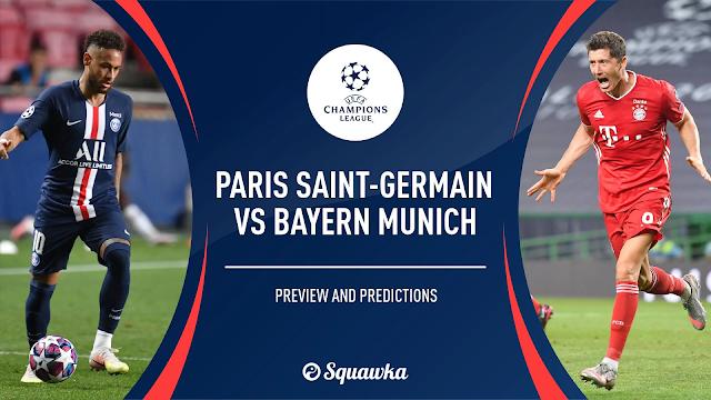 Watch Live Stream Match: PSG vs Bayern Munchen (UEFA CHAMPIONS LEAGUE)
