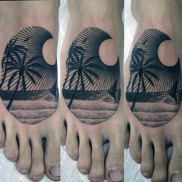 auto-croquis_da_rvore_de_palma_do_p_da_tatuagem