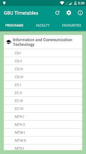 GBU Timetables - náhled