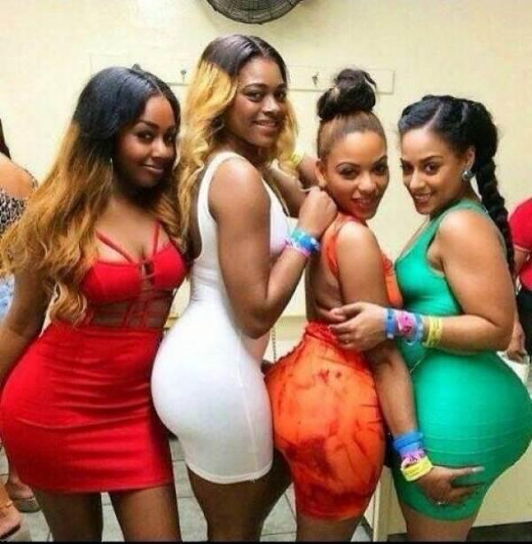 Thick ebony chicks