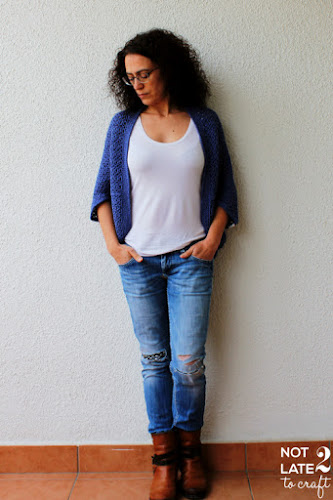 Not 2 late to craft: Jaqueta Cozy Cocoon amb link al patró / Cozy Cocoon Cardigan with link to pattern