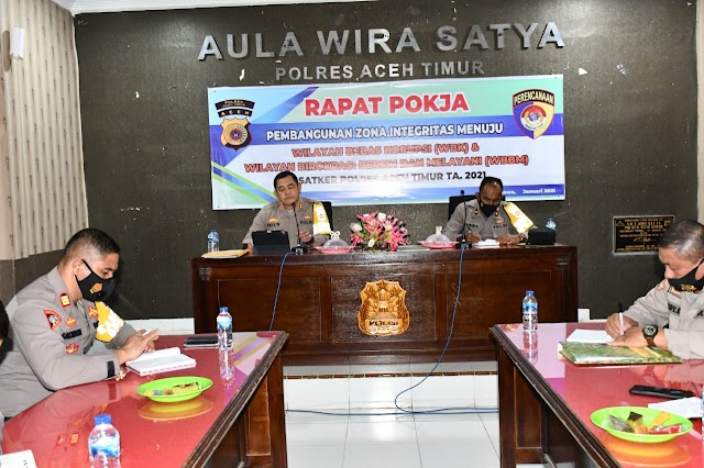 Polres Aceh Timur Rapat Pokja Menuju Zona Integritas