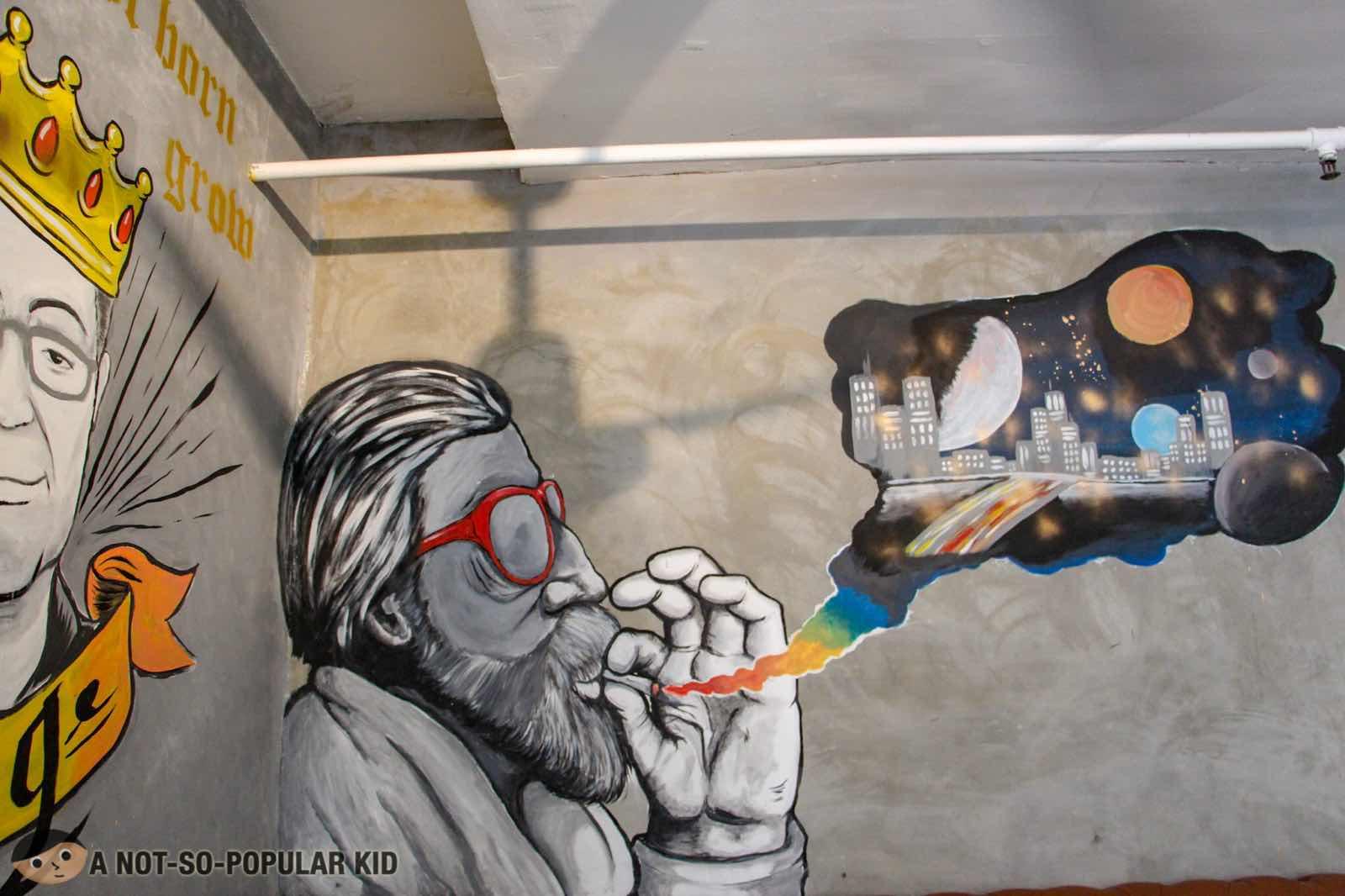 Brilliantly made interior of Kite Kebab Bar in Tordesillas