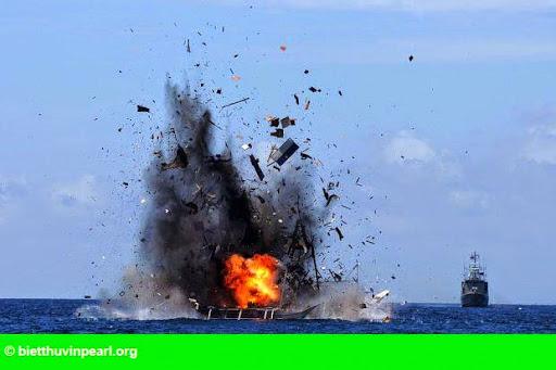 Hình 1: Bắc Kinh 'quan ngại' trước việc Indonesia đánh chìm tàu cá