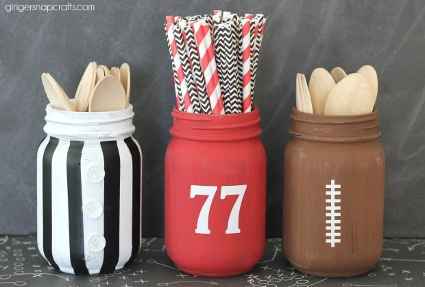 mason jar football crafts