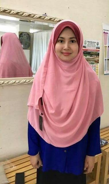 tudung shawl 2 muka