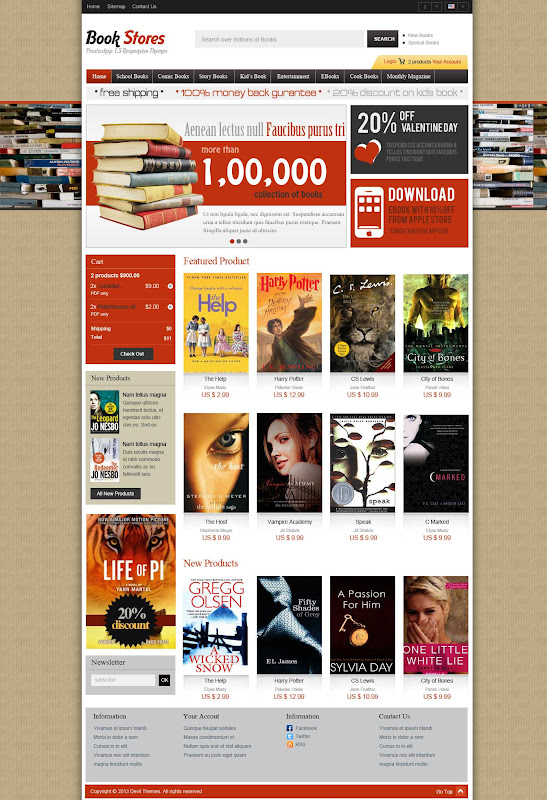 Book Store Template - Index Page