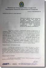 Termo de cessão da estaçao de Piquet Carneiro